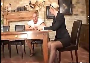 Elegant blonde german mature fucked in eradicate affect a-hole ...
