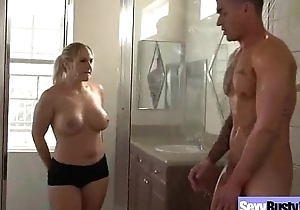 Old lady (angel allwood) with giant juggs team-fucked ha...