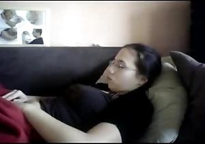 Watch my older sister masturbating. hidden webcam