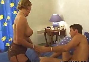 Busty french mama loves juvenile schlong
