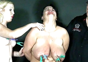 Two dilettante slavegirls ache and tears relating to extrem...