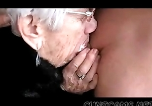 Granny sucks dudes strapon for her anniversary - greater amount ...