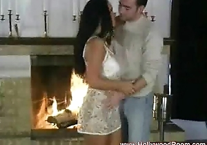 Romantic holiday sex lend chimney