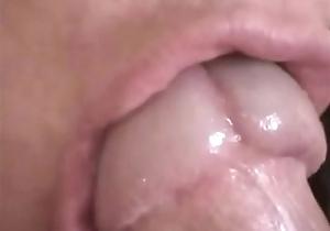 Detailed closeup cocksucking