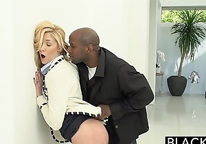 Blacked two large dark cocks be worthwhile for beneficent white BBC slut