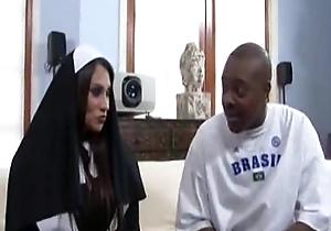 Sheila marie unsparing milk shakes nun copulates a unsparing dark cock