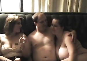 Exceeding real triplet cuties don't stop after dude cums