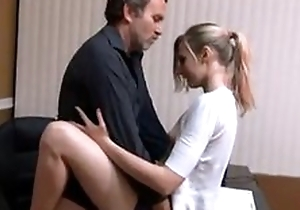 Small pair babe quickie be hung up on with daddy