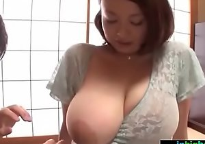 Busty japanese cheating wife groped with an increment of drilled unchanging - what´s the brush name?