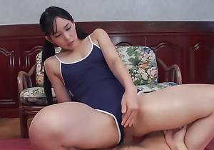 Yui Kasugano enjoys cock in unmitigatedly sopping affray