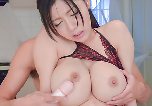 Busty Miho Ichiki craves to feel cock in her soiled vag