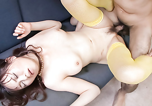 Adorable Naho Kojima is three hoggish Japanese babe