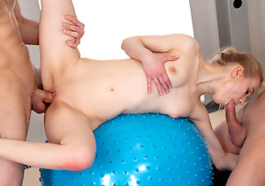 Sex border with yoga teeny
