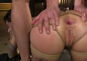 BDSM tender bitch with tattoos gets roughly fucked