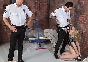 Amazing explicit gets fucked hard wide of several horny cops