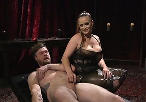Submissive guy gets anally fucked hard by horny mistress