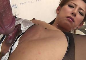 Japanese office babe gets fucked firm through the hole roughly their way camiknickers