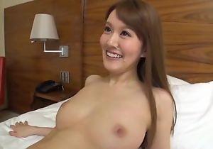 Slim Asian laddie sucks and rides lover's hard cock