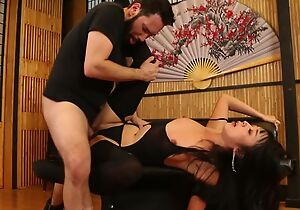 Bodacious Japanese lady in stockings gets close by fucked