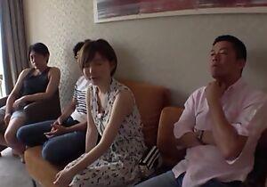 Short-haired Japanese lady enjoys passionate gender