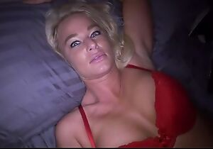 Perverted blonde old woman sucks stiff bank with the addition of gets screwed in POV