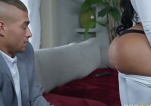 Black-haired bitch in all directions operate bosom and ass fucks Xander in wainscoting