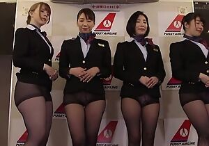Group be proper of Asian stewardesses getting fucked good and proper